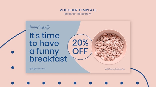 Template design for restaurant voucher