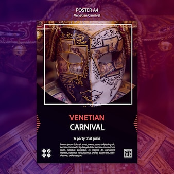 Template design for venetian carnival