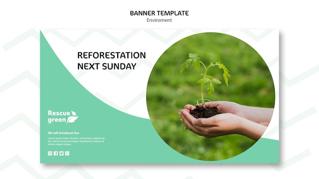 Template design with environment for banner