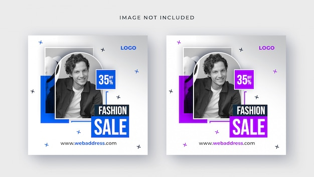 Template of fashion sale for social media post