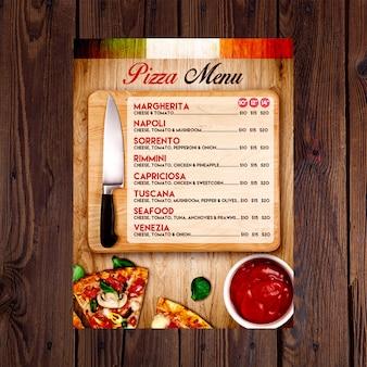 Template flyer pizza menu