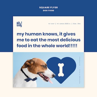 Template for flyer with dog food