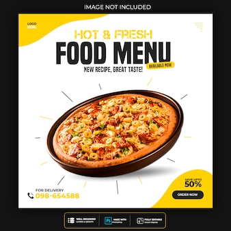 Шаблон для еды скидка на пост в социальных сетях