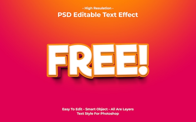 Template of free text effect