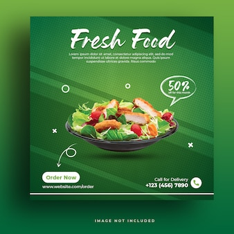 Template for fresh food post on social media