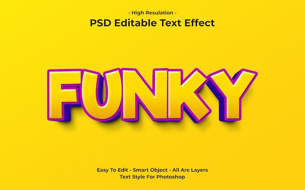 Template of funky text effect