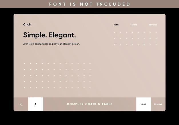 Template landing page website furniture