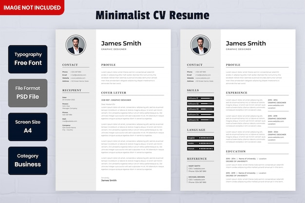 Template of minimalist resume