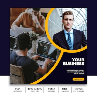 Template post square banner for instagram, business corporate luxury clean elegant