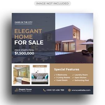 Template for real estate for social media post