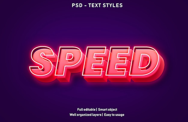 Template of speed text effect