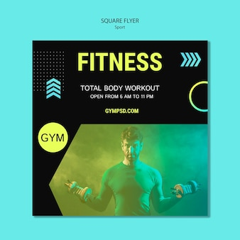 Template square flyer sport business