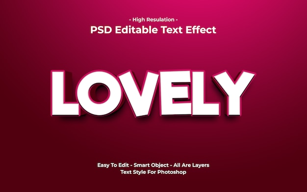 Templete of lovely text effect