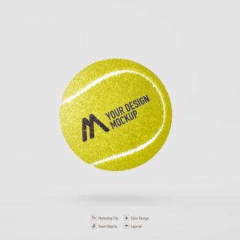 分離されたテニスボールのモックアップデザイン