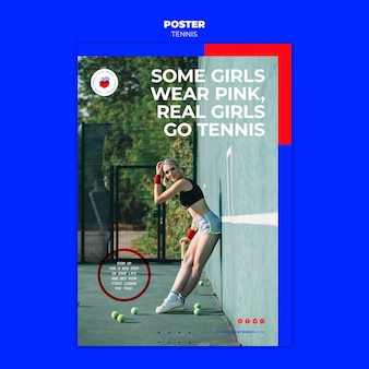 Tennis concept poster template