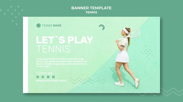 Tennis practice banner template