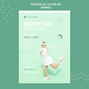 Tennis practice poster template