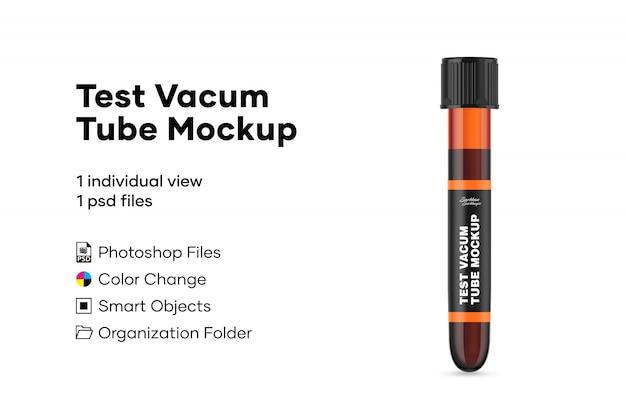 Test vacum tube mockup