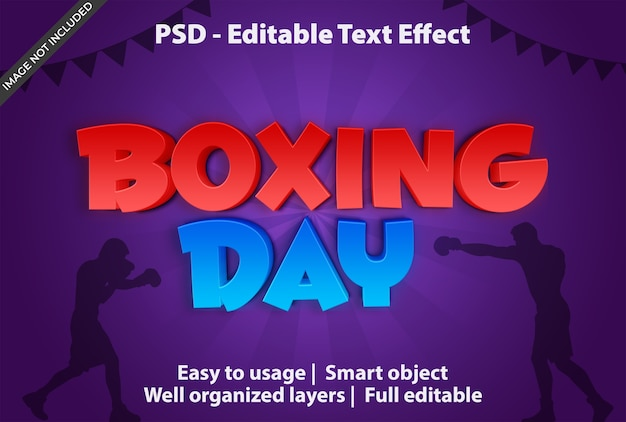 Text effect boxing day template