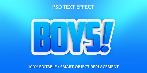 Text effect boys template