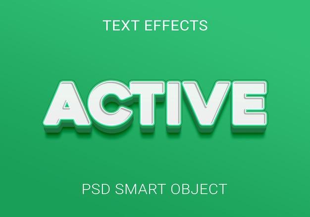 Текстовый эффект мультяшный зеленый дизайн