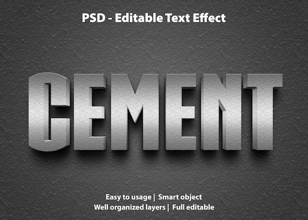 텍스트 효과 시멘트 템플릿
