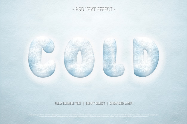 Text effect cold