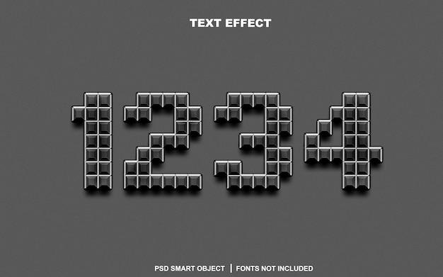 텍스트 효과. 편집 가능한 텍스트 스마트 개체