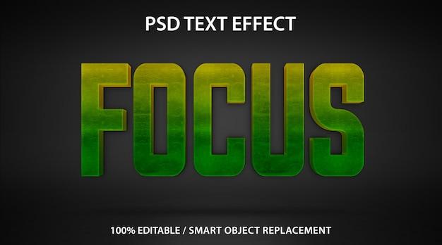 Шаблон фокуса текстового эффекта