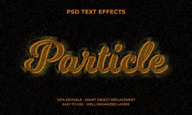 クールな未来的な粒子効果のためのテキスト効果
