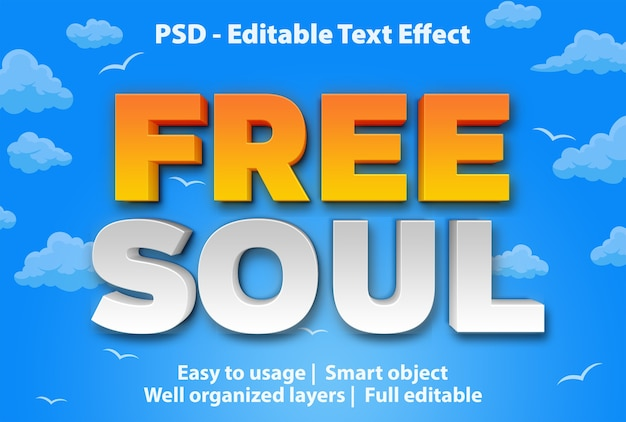 Text effect free soul template