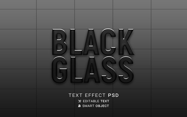 Text effect glass design