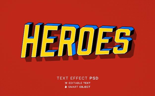 Текстовый эффект героя дизайна