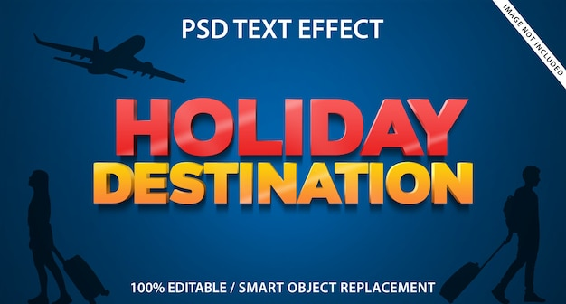 Text effect holiday destination template