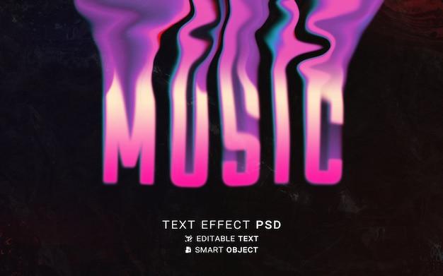 Text effect liquid typography design