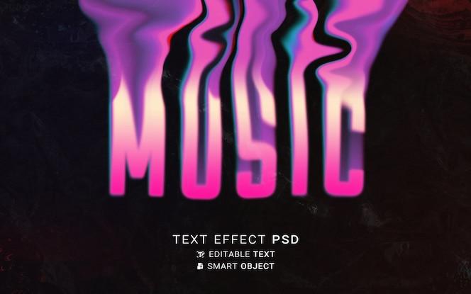 Design tipografico liquido effetto testo