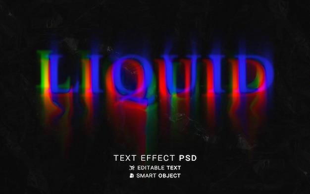 Текстовый эффект жидкого типографского дизайна