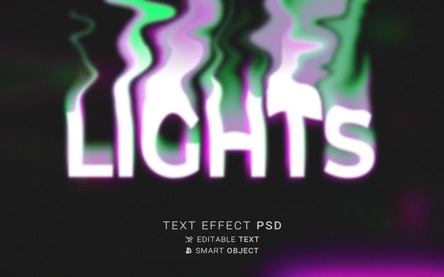Tipografia liquida effetto testo