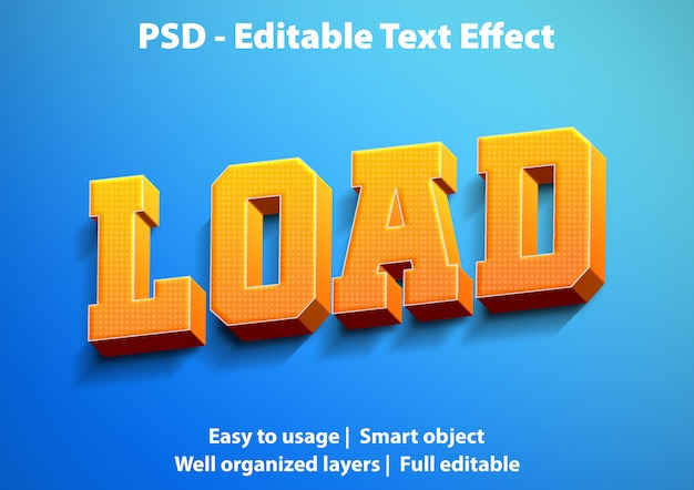 Text effect load template