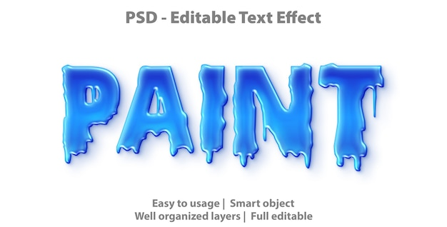 Text effect paint template