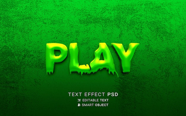 Text effect play design