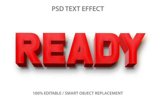 Text effect ready template