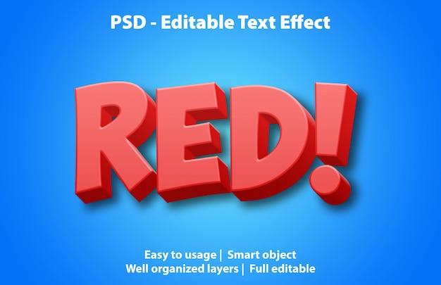 テキスト効果の赤いテンプレート