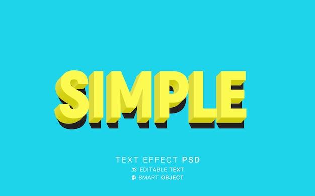 Текстовый эффект простой дизайн