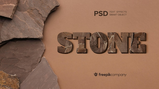 Text effect stone mockup