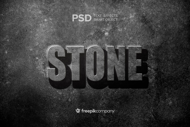 テキスト効果の石のモックアップ