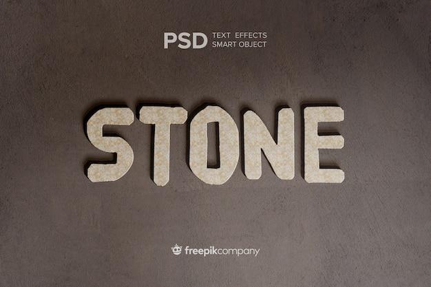 Текстовый эффект каменного макета