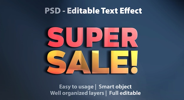 Text effect super sale template