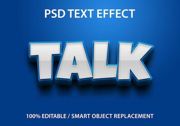Text effect talk template