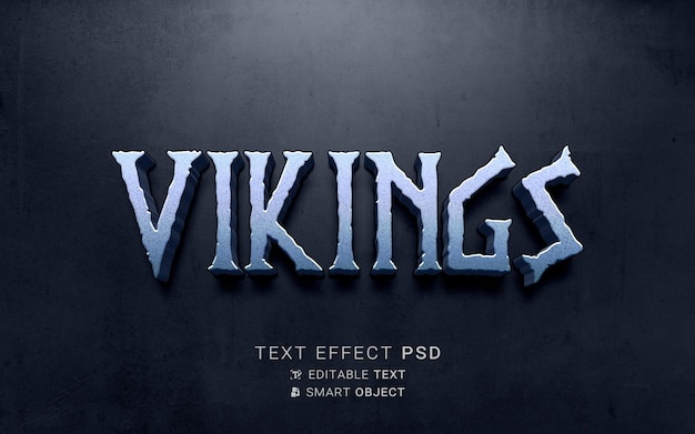 Текстовый эффект викинг дизайн